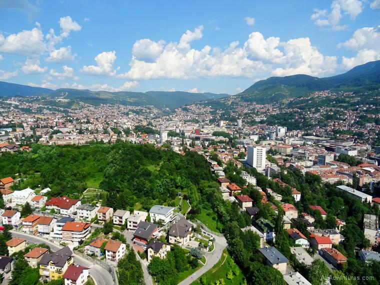 10 days in Bosnia & Herzegovina - Sarajevo Bosnia views from above