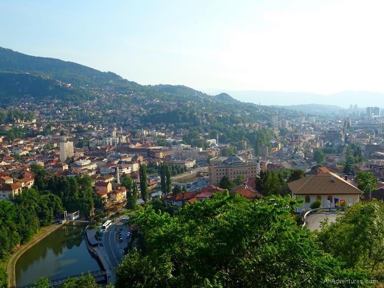 Bosnia itinerary - Sarajevo views from above