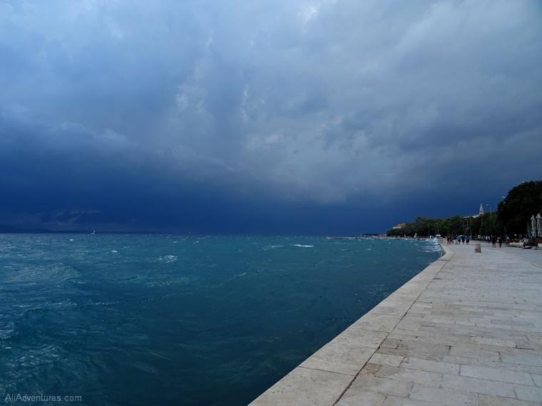 Zadar Croatia storm