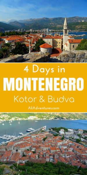 Here's how I spent 4 days in Montenegro, with 2 days in Kotor and 2 days in Budva. These are some of the best places to visit in Montenegro and should definitely be included on your Montenegro itinerary. #montenegro #kotor #budva #montenegrotips #montenegroitinerary