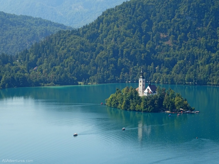 views from Lake Bled castle