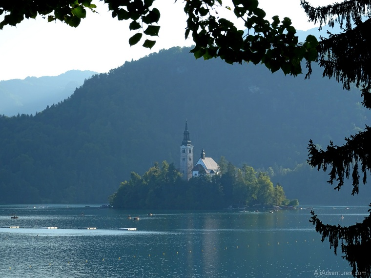 views of Lake Bled Slovenia