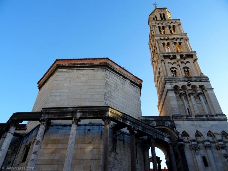 views of Split Croatia from above - Diocletian's Palace