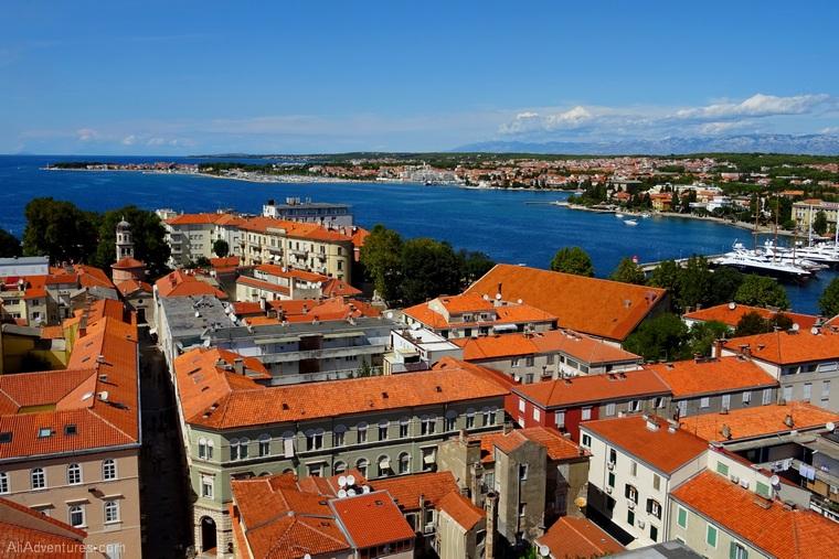 views of Zadar Croatia from above