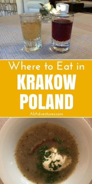 Krakow, Poland is a gorgeous city with lots to do and see and plenty of good food. Check out my tips for where to eat in Krakow plus things to do in Krakow. #krakow #poland #traveltips #travelplanning