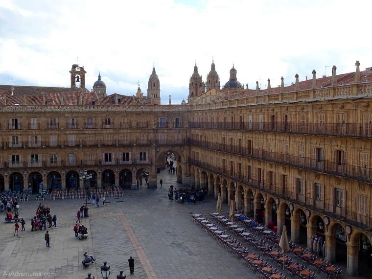 Salamanca view of Plaza Mayor daytime
