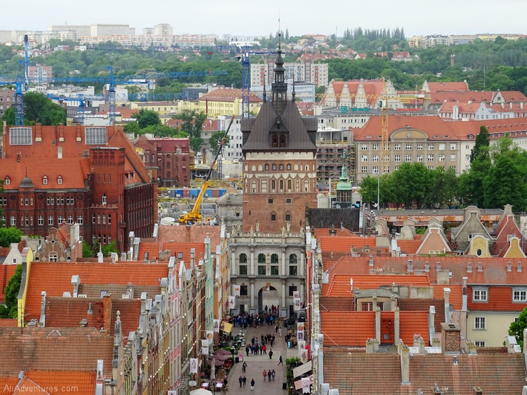 views of Gdansk from above