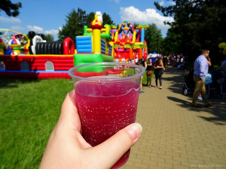 Ostrava castle alcoholic slushies