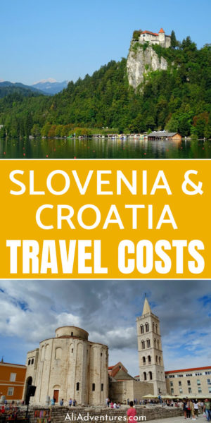 Before your trip, see how much we spent traveling in Slovenia and Croatia so you can plan your travel budget. These are both gorgeous countries to visit, and while not super cheap, they aren't super expensive either. #slovenia #croatia #ljubljana #lakebled #zadar #split #budgettravel #traveltips #travelbudget