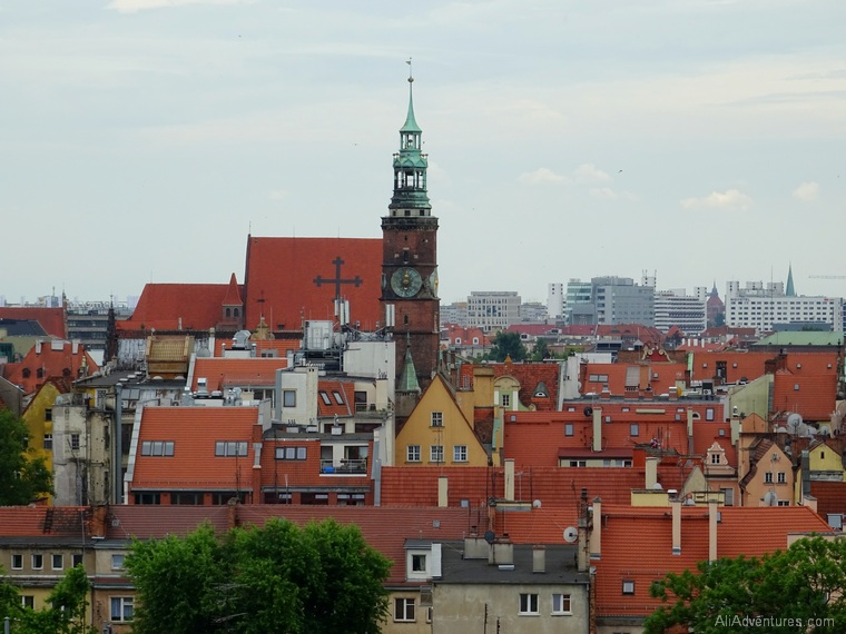 Wroclaw Poland from above