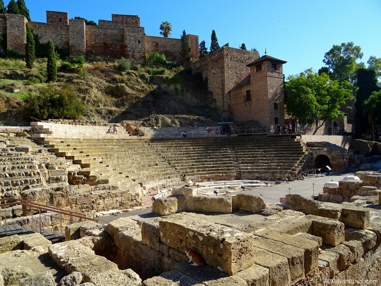 how much I spent in Malaga Spain - Alcazaba