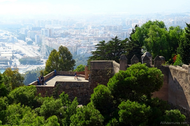 how much I spent in Malaga Spain - castle