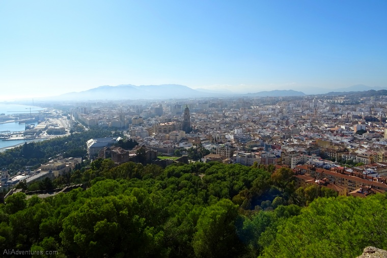 how much I spent traveling in Malaga Spain - castle