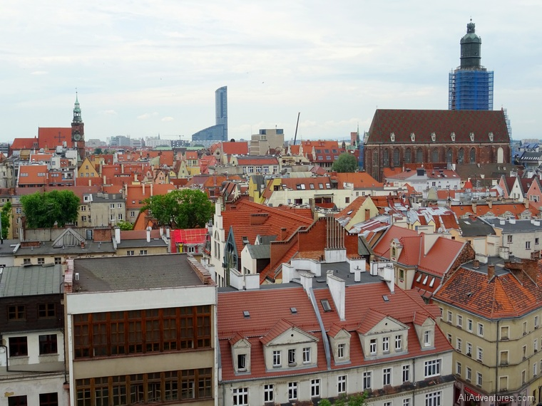 views of Wroclaw Poland from Mathematical Tower