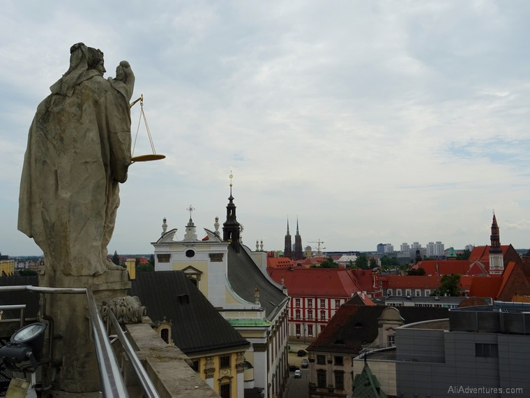 views of Wroclaw from Mathematical Tower