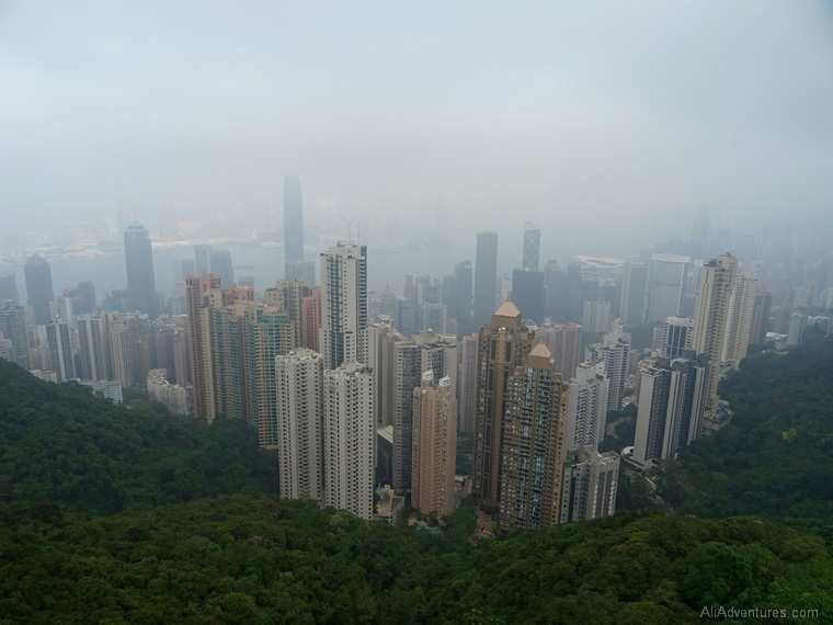 Macau and Hong Kong trip cost and travel expenses - Hong Kong Victoria Peak view