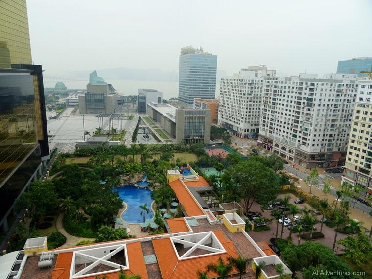 Macau hotel non renovated room view