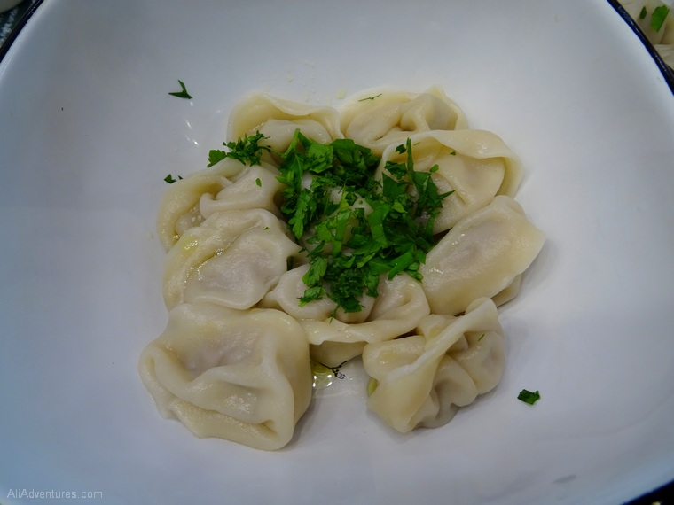 my travel budget won't match yours - Moscow food tour pelmeni