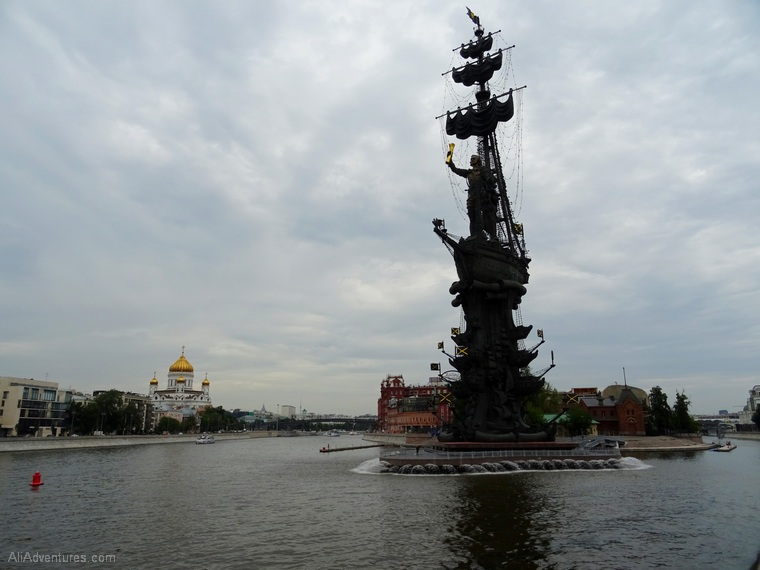 Russia river cruise Moscow Peter the Great statue