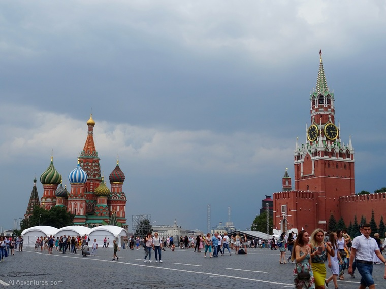 Russia river cruise Moscow Red Square