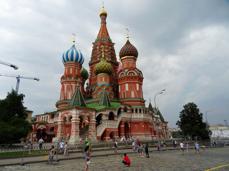 Russia river cruise Moscow Red Square St Basils