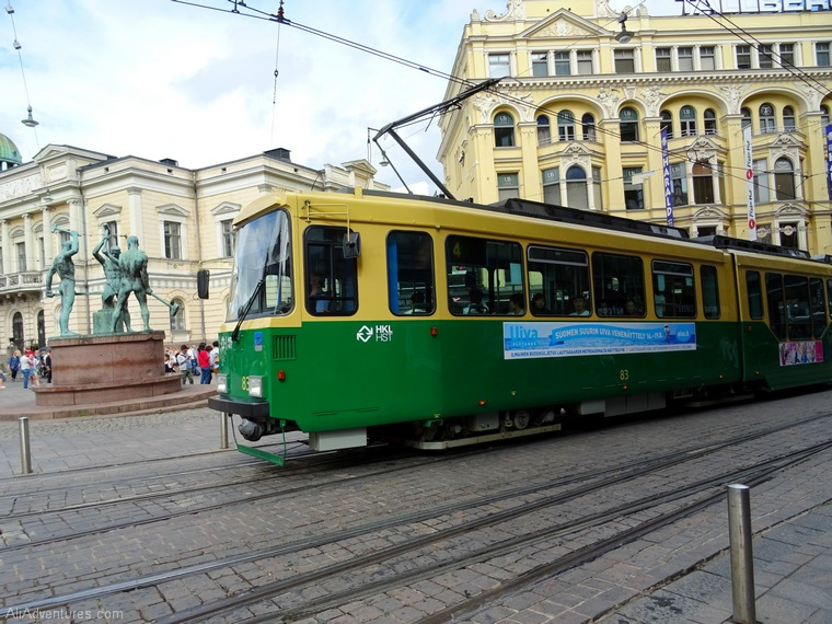 Finland Estonia travel costs - Helsinki tram