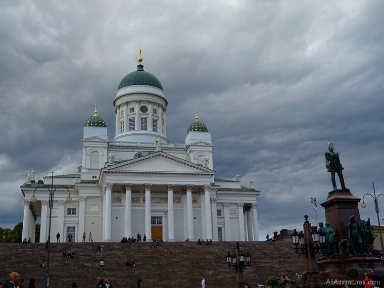how much we spent traveling in Finland and Estonia - Helsinki Cathedral