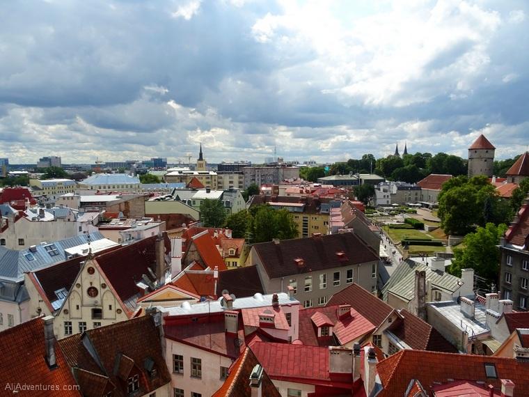 Tallinn Estonia from above