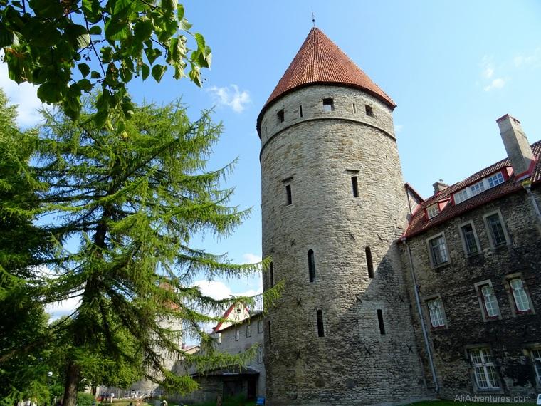 Tallinn Estonia old town walls