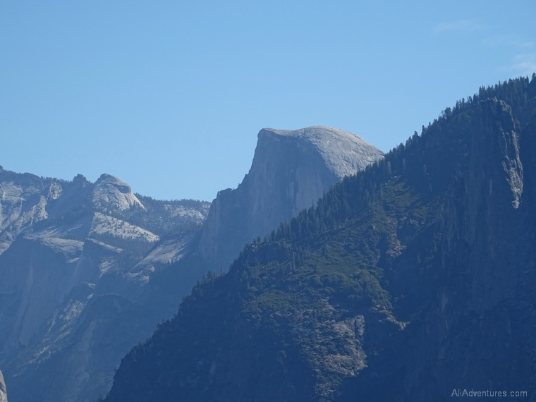 2 days in Yosemite Half Dome from Tunnel View