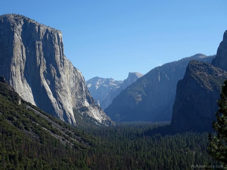 2 days in Yosemite Tunnel View Half Dome