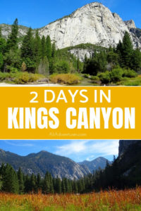 We spent 2 days in Kings Canyon, and it turned out to be one of my favorite stops on our 3 week national parks road trip. See why this is a can't miss park. #kingscanyon #sequoia #usnationalparks #usaroadtrip #hiking #camping #traveltips