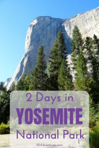 Here's how we spent 2 days in Yosemite national park, plus tips for planning a trip to Yosemite and the best place to camp in Yosemite. #yosemite #nationalparks #traveltips #ca #usa #roadtrip #camping