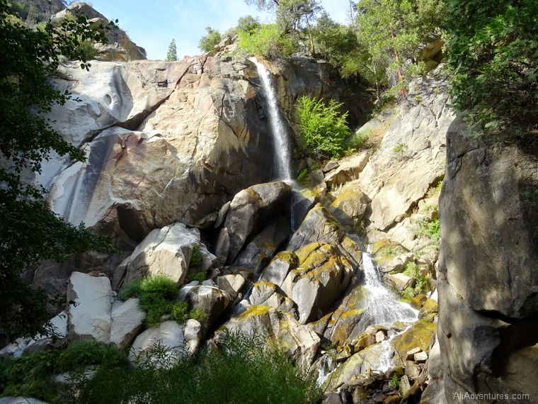 Kings Canyon Scenic drive into park waterfall