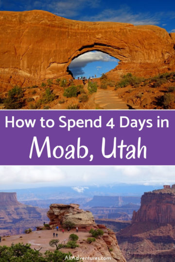 There are so many things to do in Moab, UT. Here's how we spent 4 days in Moab visiting Arches National Park, Canyonlands National Park, and more. #usa #utah #arches #canyonlands #traveltips