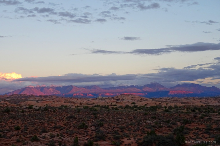 Arches National Park sunset views