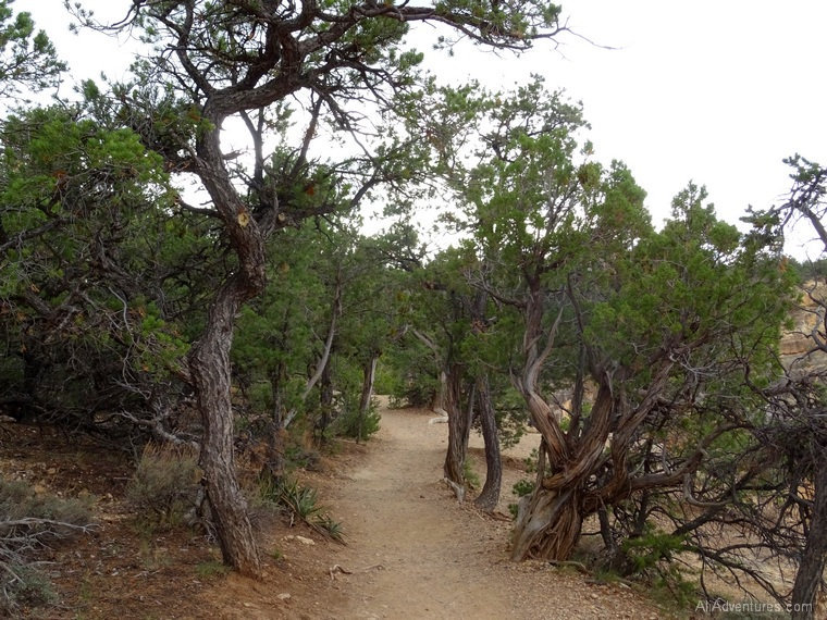 Grand Canyon itinerary rim trail Hermits Rest