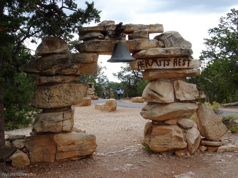 Hermits Rest rim trail Grand Canyon