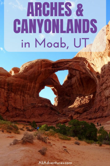 Even though it rained most of our time in Moab, UT, we did our best to see the national parks. Here's how we spent 4 days in Moab exploring Arches and Canyonlands National Parks, driving along the CO River, and more. #usa #utah #arches #canyonlands #traveltips