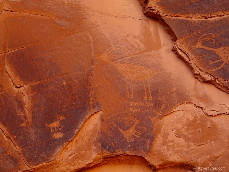 Monument Valley petroglyphs