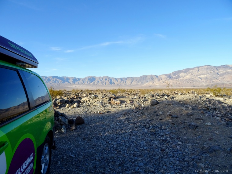 camping in Death Valley campervan