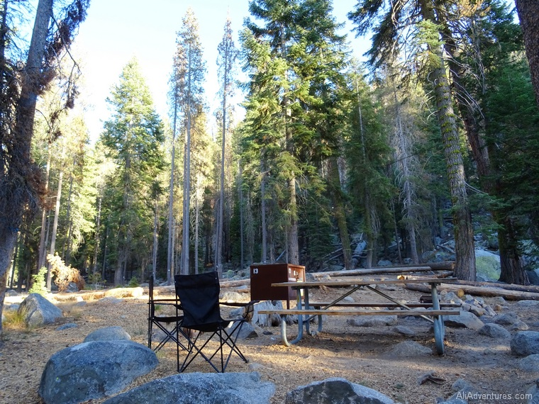 camping in Sequoia National Park Lodgepole campground