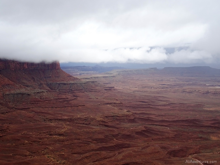 foggy Canyonlands National Park