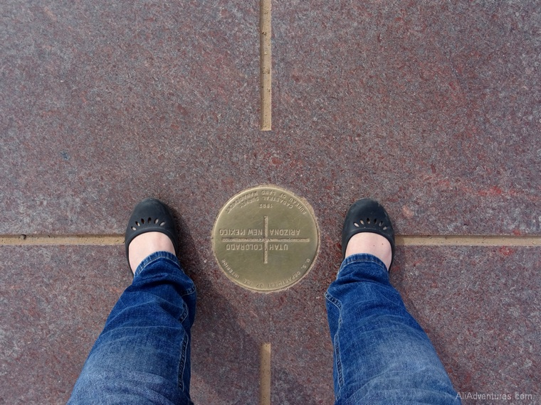 standing in all four corners states