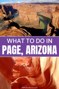 Antelope Canyon isn't the only thing to do in Page, AZ. Check out what to do in Page, AZ, the best Antelope Canyon tour, where to camp, and where to find the best views. #pageaz #az #arizona #antelopecanyon #horseshoebend #lakepowell #traveltips #travelplanning