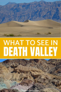 Here's how to spend 1 day in Death Valley, a unique, gorgeous national park, where we saw the highlights of the hottest, driest, lowest point in the USA. #deathvalley #ca #california #usa #roadtrpip #nationalparks #nps #traveltips
