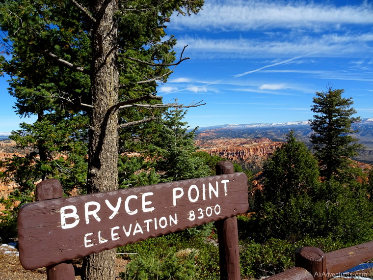 Bryce Canyon National Park high elevation