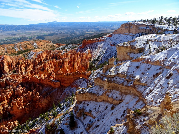 Bryce Canyon National Park in the snow