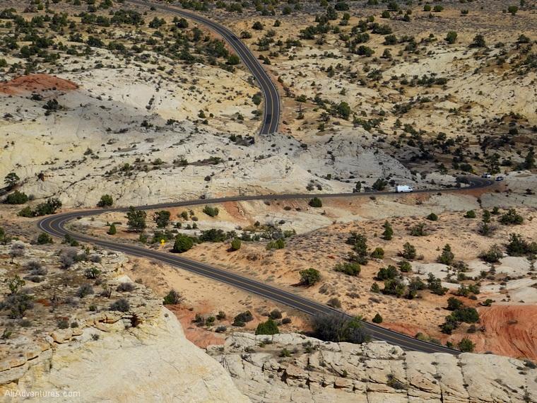 curvy road Scenic Hwy 12 Utah