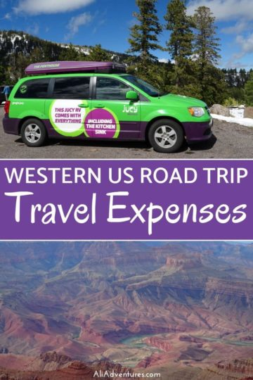 What's the real cost of a western US road trip in a campervan? Take a look at what we spent and where our budget got off course. #usa #ca #az #ut #roadtrip #budgettravel #traveltips #campervan